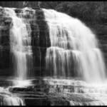 Pearson's Falls in B/W