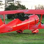 Red 2 Seater Plane, another view