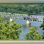 Train Bridge over the Mississippi