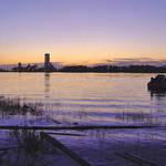 Sunset Dusk River scene Fraser River