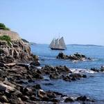 sailing- off the coast of maine