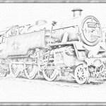 locomotive sketch