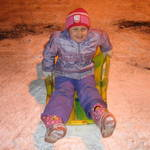 Sledding at night