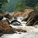 Sliding Rock on Moose River