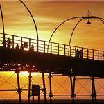 Southport pier at sunset