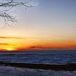 Sunset on Presque Isle