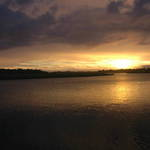 sunset over bowman Island