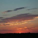 sunset over marsh