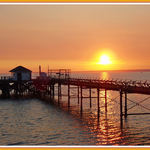 Sunset Over Totland Pier