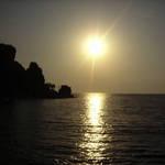 sunset in amasra