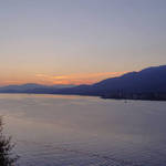 Sunset over Burrard Inlet-from Prospect Point