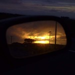 Rear Vision Sunset