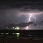 Surfside Pier Lightning
