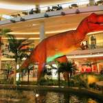 T Rex & Fountain in Mall