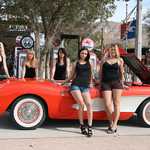 Trophy Girls With Corvette