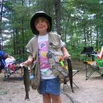 Proud Daughter's First Rainbow Trout