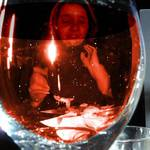 Sally through the wineglass