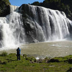 Waihi Falls in the winter time