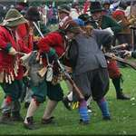 Musketeers in close combat