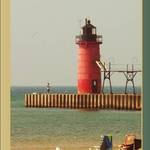 South Haven Light at mid day