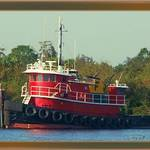 Tugboat wait to head east
