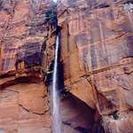 Zion&#39;s Canyon Waterfall
