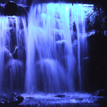 Ice Blue Waterfall