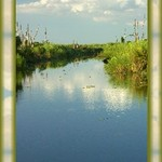 Canal from Lake Okeechobee to Clewiston, FL