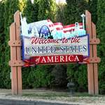Welcome To The USA sign at the Border