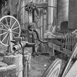 Wheelwright Shop in Black and White