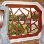 Lattice window with view